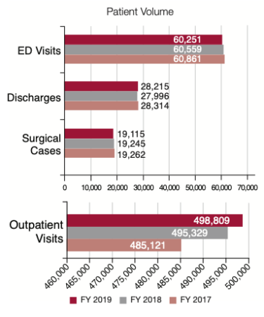 chart showing patient volume